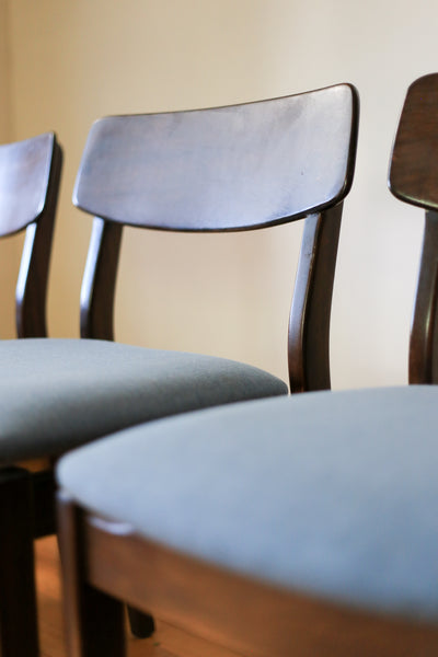 Six Upholstered Dining Chairs