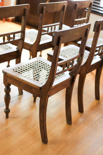 Vintage Riempie Dining Chairs