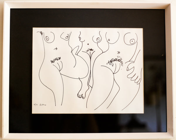'Three Female Nudes' by Walter Battiss - Lithograph