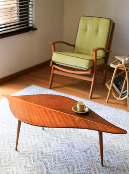 Mid Century Leaf Shaped Coffee Table