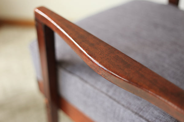 Upholstered 1970's Arm Chair