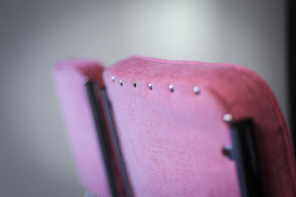 Chrome and Pink Retro Chairs