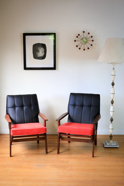 Refurbished Mid Century Armchairs