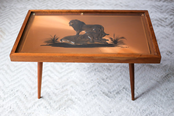 1960's Dennis Thomson Copper Art Coffee Table