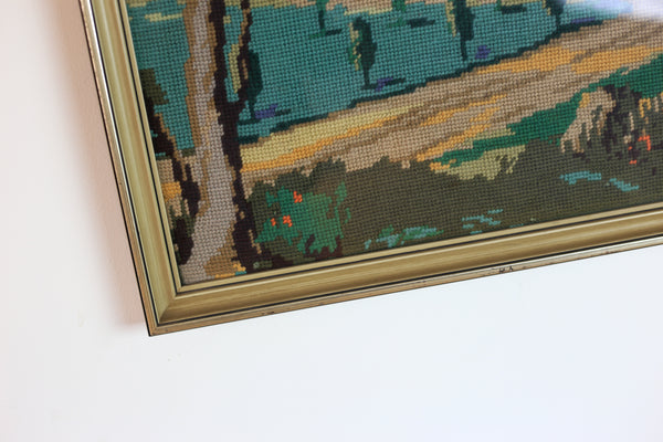 Vintage Framed Tapestry of the Voortrekker Monument