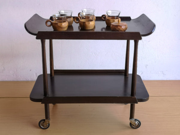 Two Tier Vintage Modern Drinks Trolley