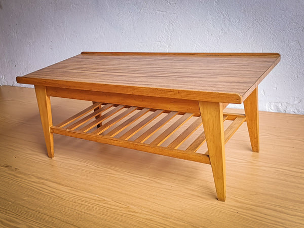 Sixties Two Tier Coffee Table with Teak Base