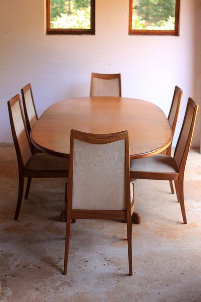 Set of Six G Plan Fresco Dining Chairs