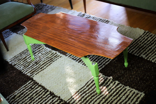 Vintage Coffee Table with a Green Base