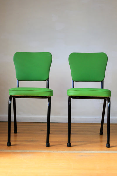 Two Refurbished Vintage Kitchen Chairs