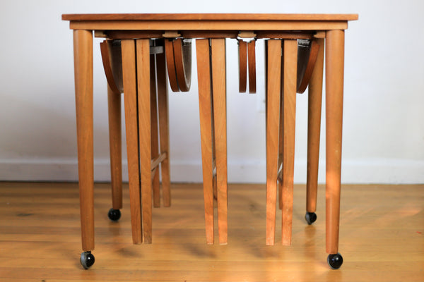 1960's Danish Hanging Nest of Tables