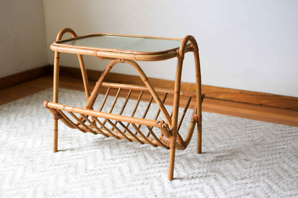 Unrestored Cane Magazine Rack