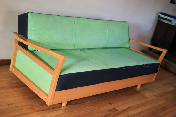 Mint Retro Couch and Two Single Chairs