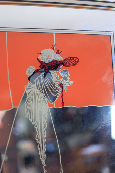 Vintage Art Nouveau 'Isolde' Mirror