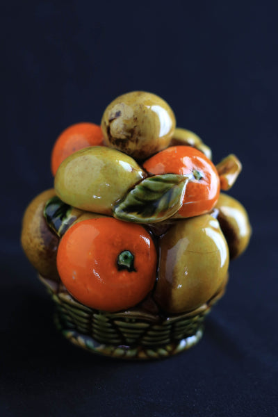 Fruit Basket Sugar Bowl
