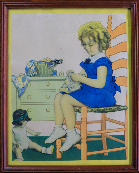 Two Vintage Pictures - sold as a pair
