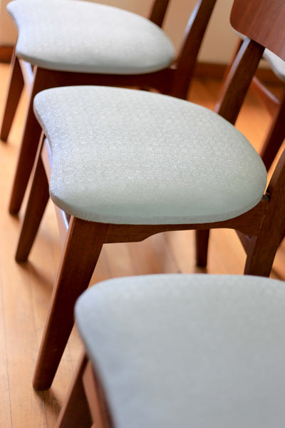 Set of Six Mid Century Dining Chairs