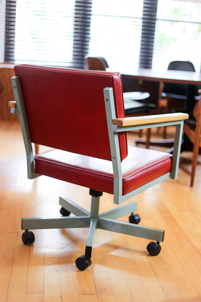 Modernist Steel Study Chair
