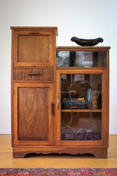 Lead Glass Display and Drinks Cabinet
