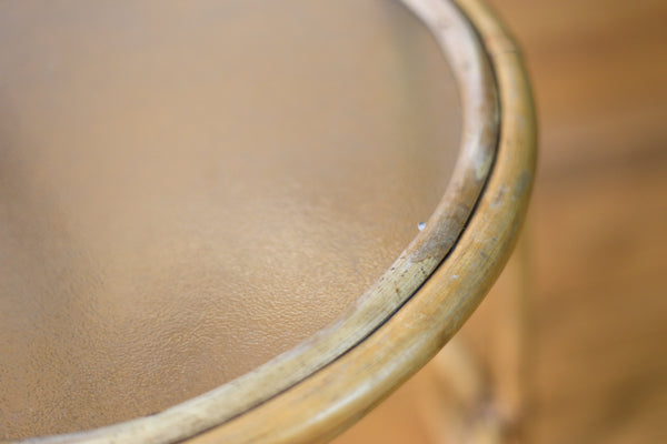 Round Cane Side Tables