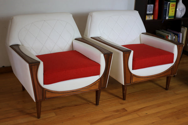Refurbished 1960's Airflex Couch and Two Armchairs