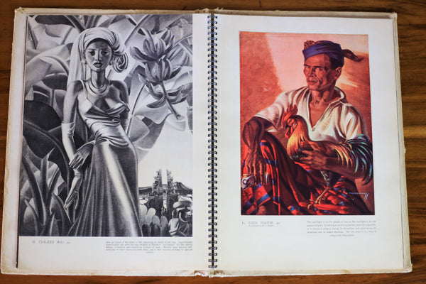 Vintage 1950 First Edition Book of Tretchikoff Prints