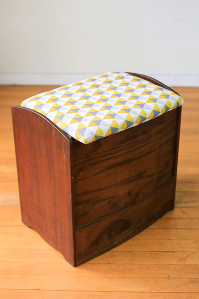Toy Box with Upholstered Seat