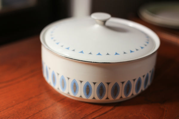 Vintage Satin White Grindley Tureen