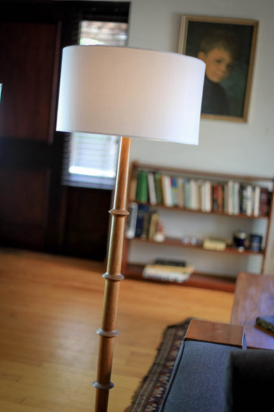 Vintage Kiaat Floor Lamp