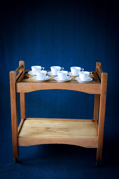 Six Vintage Coffee Cups from China