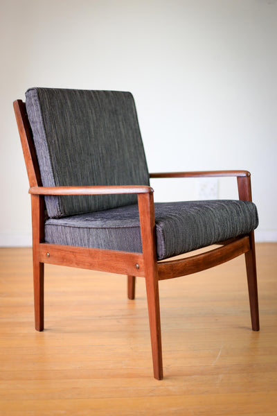 Re-upholstered Mid-century Armchair