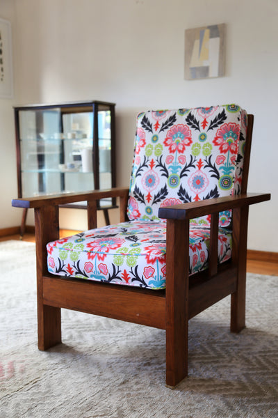 Two Upholstered Vintage Morris Chairs