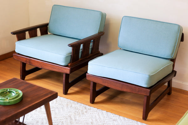 Refurbished 1960's Airflex Imbuia Lounge Furniture