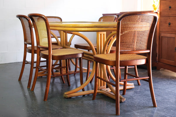 Cane Dining Room Set