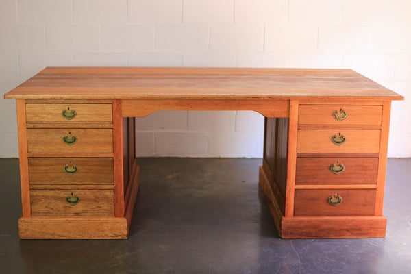 Vintage Desk with Eight Drawers