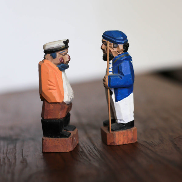 Wood Carved Drunken Sailors