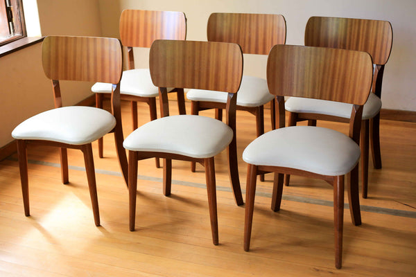 Retro Dining Table and Six Chairs
