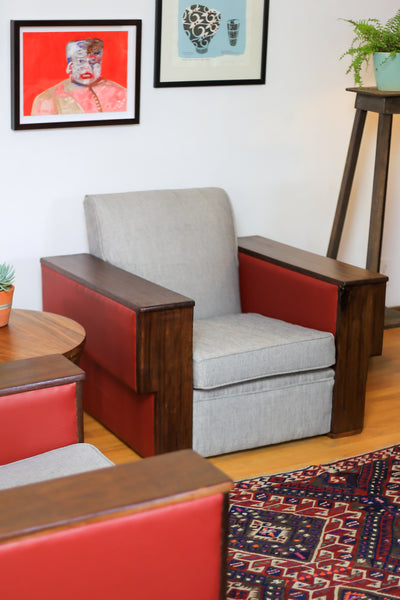 Two Refurbished Art Deco Armchairs