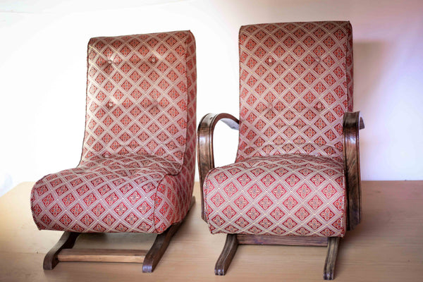 Vintage Banana Rocking Chairs