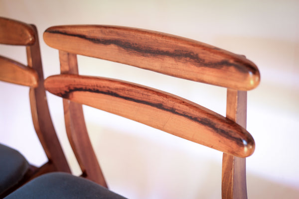 Six Mid-century Kiaat Dining Chairs