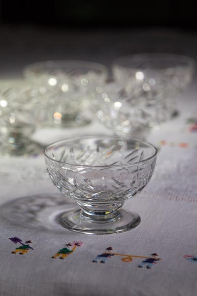 Five Antique Webb Crystal Dessert Bowls