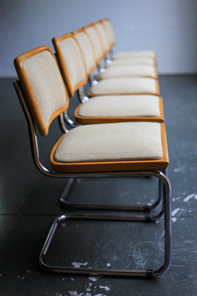 Set of Six 'Cesca' Style Dining Chairs