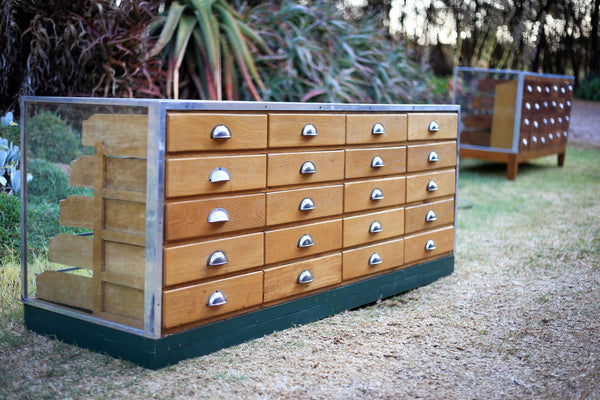 Rare Ahlstrom Haberdashery Cabinet with 20 Drawers