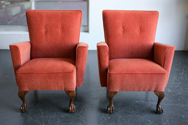 A Pair of Mid-Century Lounge Chairs