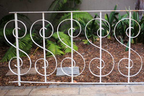 Three Steel Patio Rails