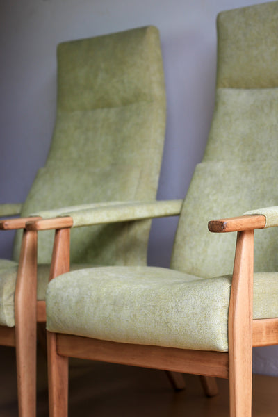 1960s High Back Parker Knoll Lounge Chairs with New Upholstery