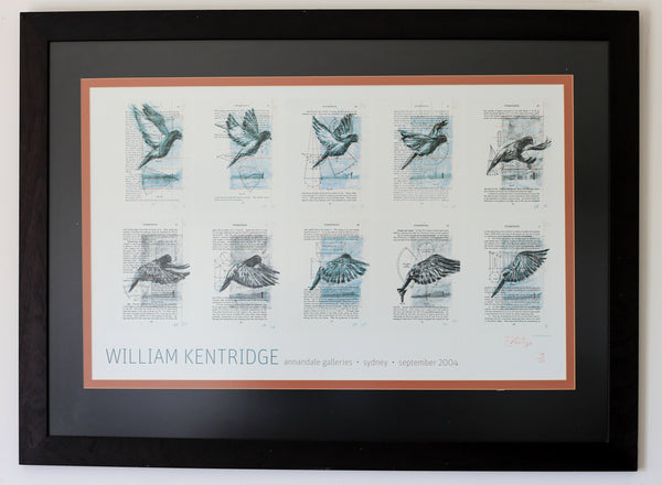 Framed William Kentridge Photo Litho
