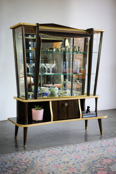 Flamboyant Mid-Century Display Cabinet