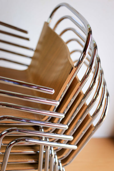 Six Modernist Café Chairs