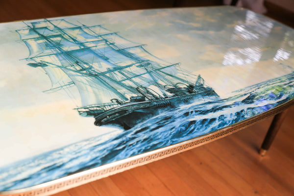 Tall Ship Retro Coffee Table